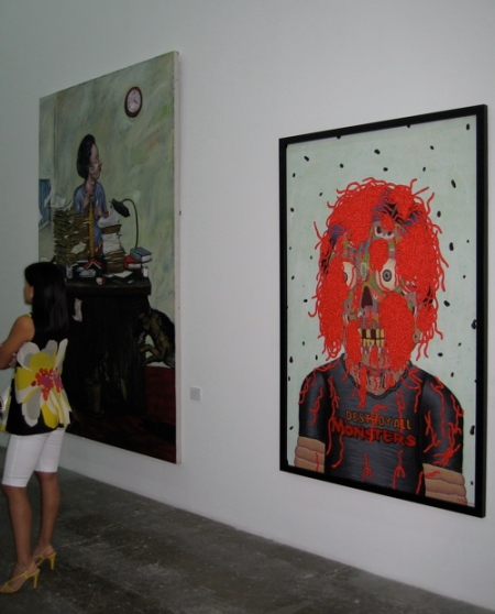 "Robert Langenegger, ""Rolling Paperworks"" and Louie Cordero, ""Untitled"""