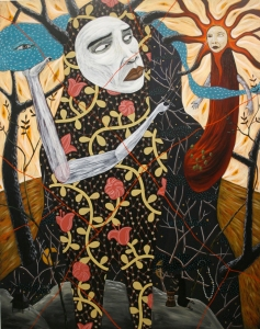 """Rodel Tapaya, """"Sun, Sky, Moon, and Stars Myth"""""""